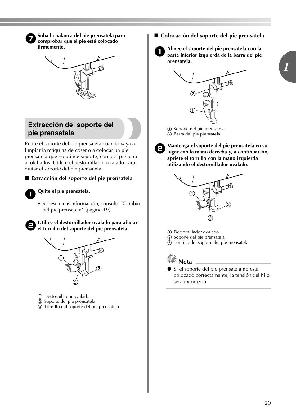 Extracci U00f3n Del Soporte Del Pie Prensatela
