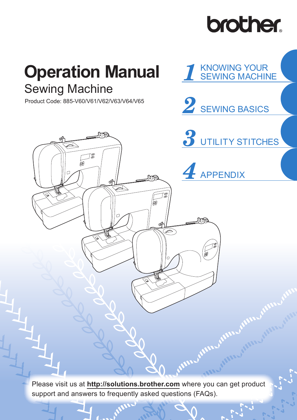 Download / pdf brother vx 1120 sewing machine instruction manual.