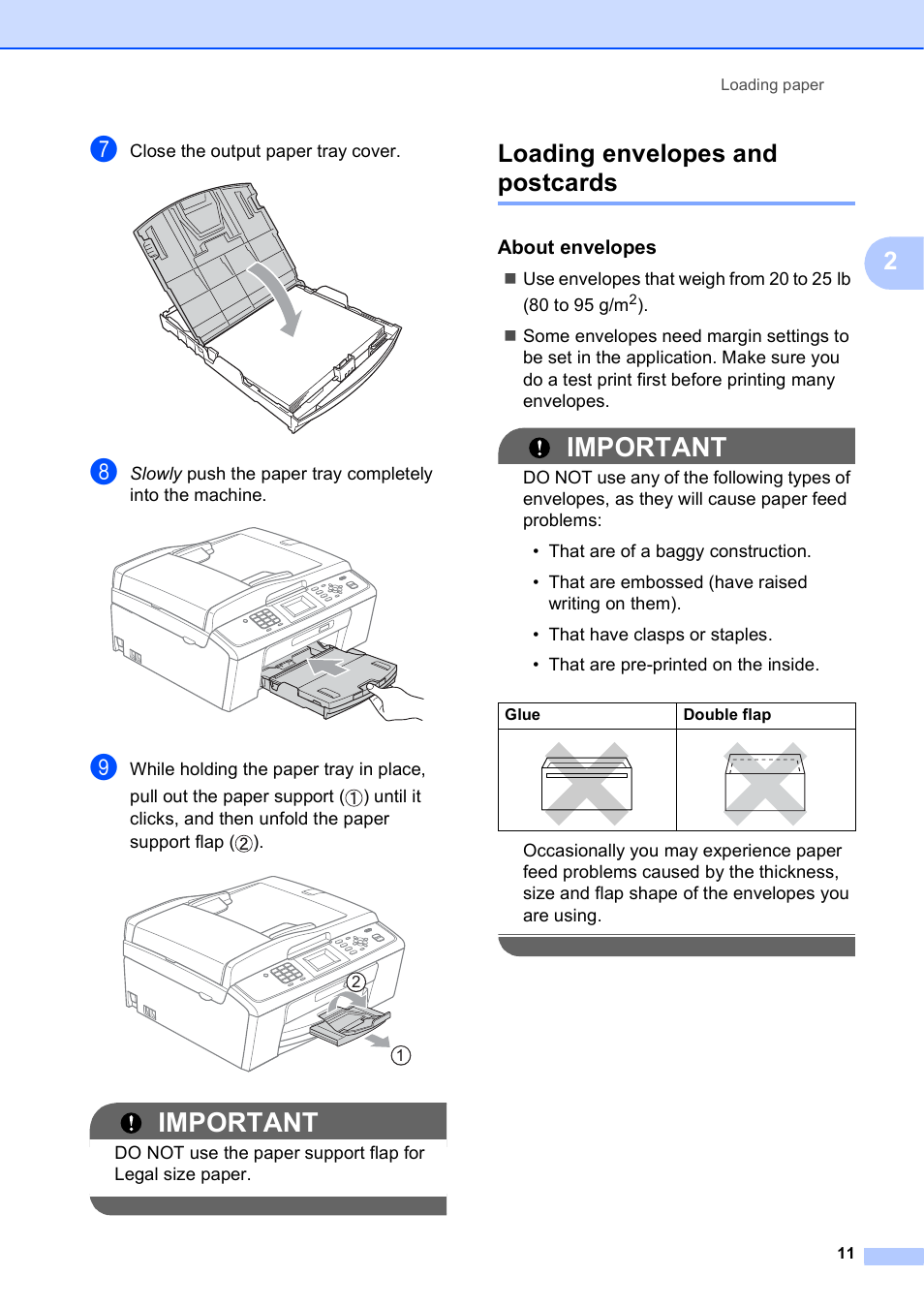 how to print envelopes on brother printer