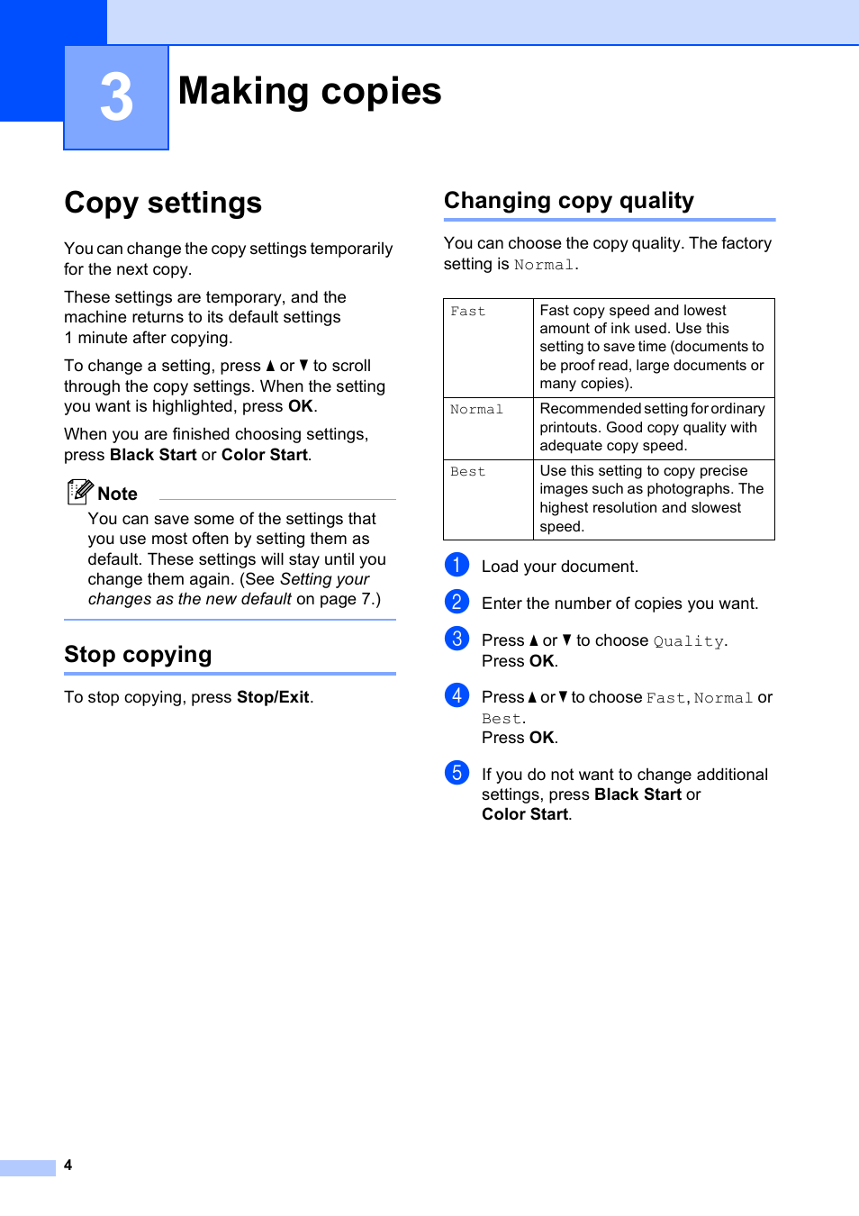 3 making copies copy settings stop copying brother dcp j125 user rh manualsdir com brother dcp j125 service manual manual de impresora brother dcp-j125 en español