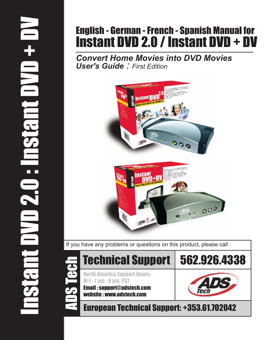 Ads Technologies Instant Dvd 2.0 Driver Download