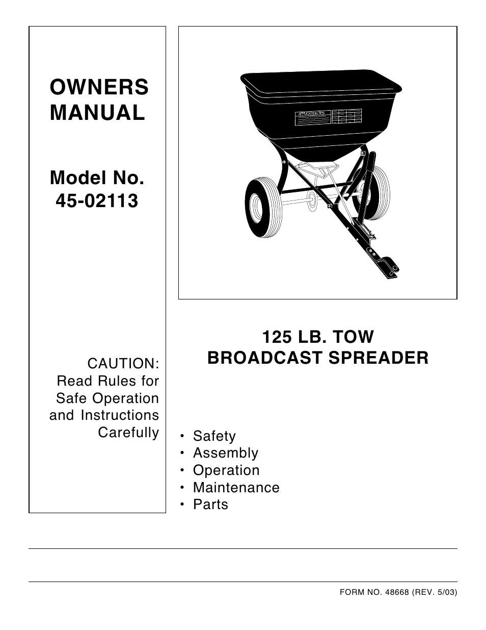 agri fab 45 02113 user manual 12 pages rh manualsdir com Agri-Fab Broadcast Spreader agri fab broadcast spreader 100 manual