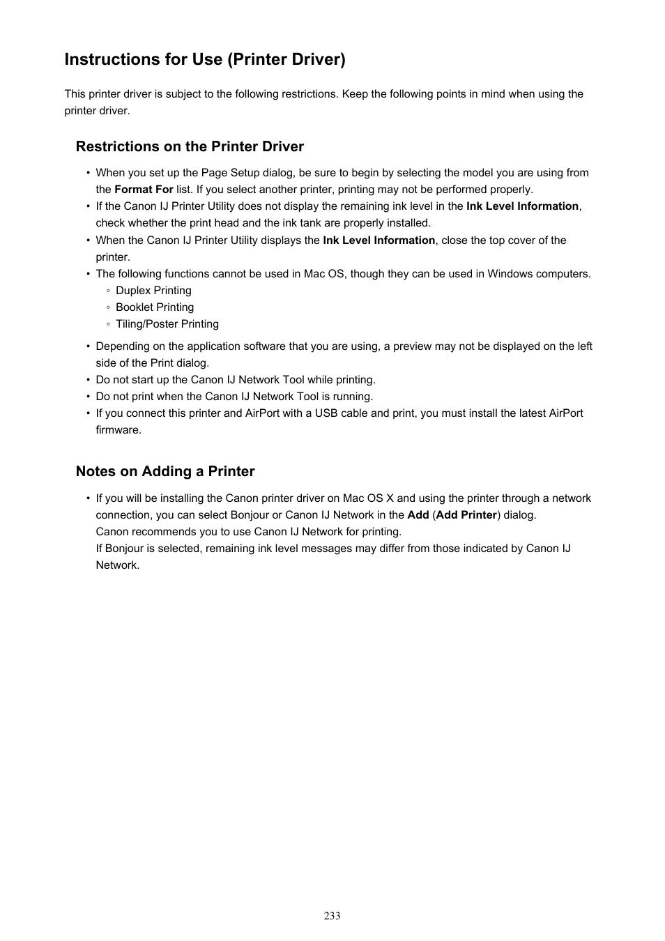 Instructions for use (printer driver) | Canon PIXMA iX6850