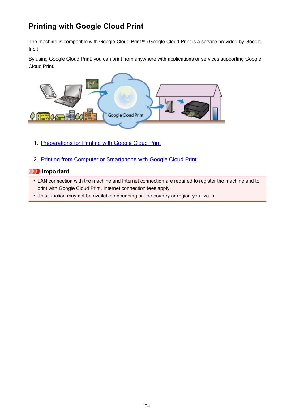 Printing With Google Cloud Print