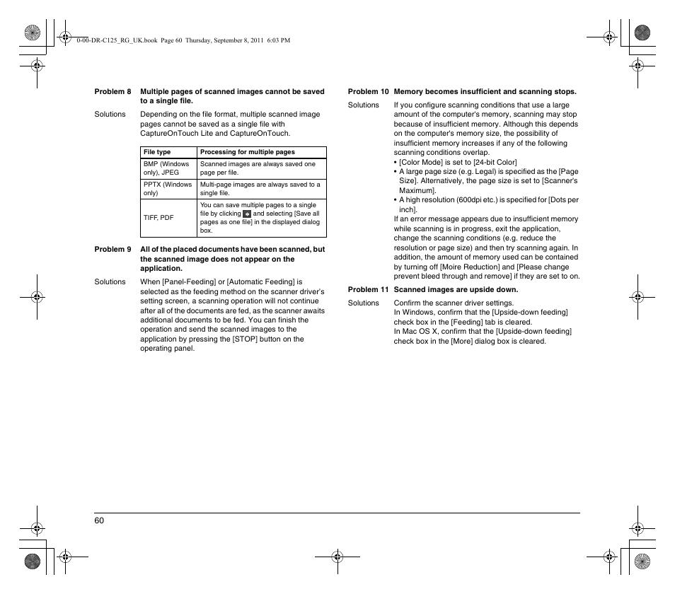 Canon imageFORMULA DR-C125 Document Scanner User Manual