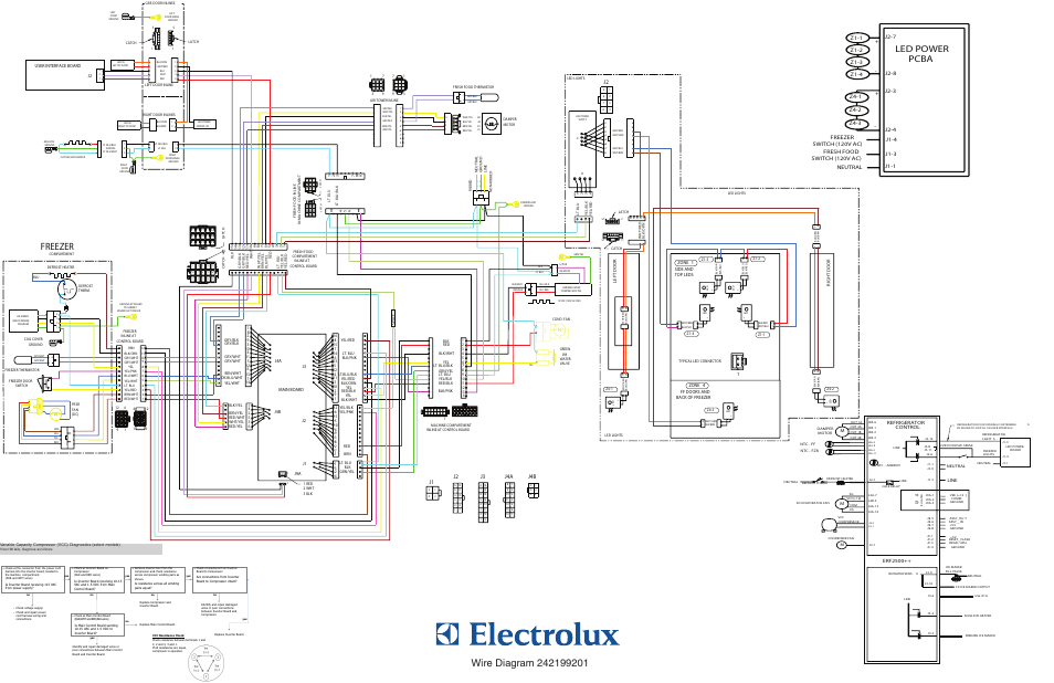 electrolux ei23bc30ks page2 diagram wiring, freezer, led power pcba electrolux ei23bc30ks Basic Electrical Wiring Diagrams at cita.asia