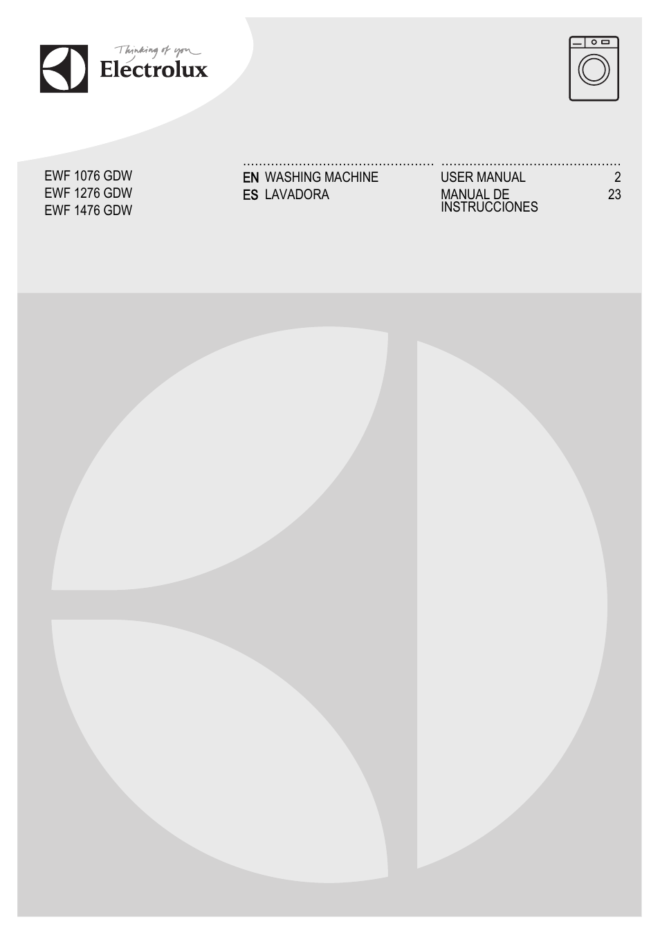 electrolux ewf1476gdw user manual 48 pages rh manualsdir com  electrolux ewf 1234 service manual