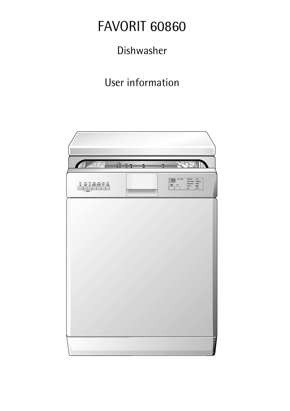 Aeg Favorit 60860 User Manual 48 Pages