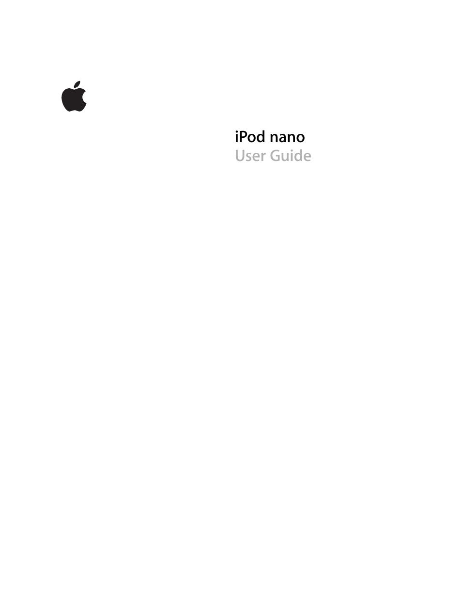 apple ipod nano user manual