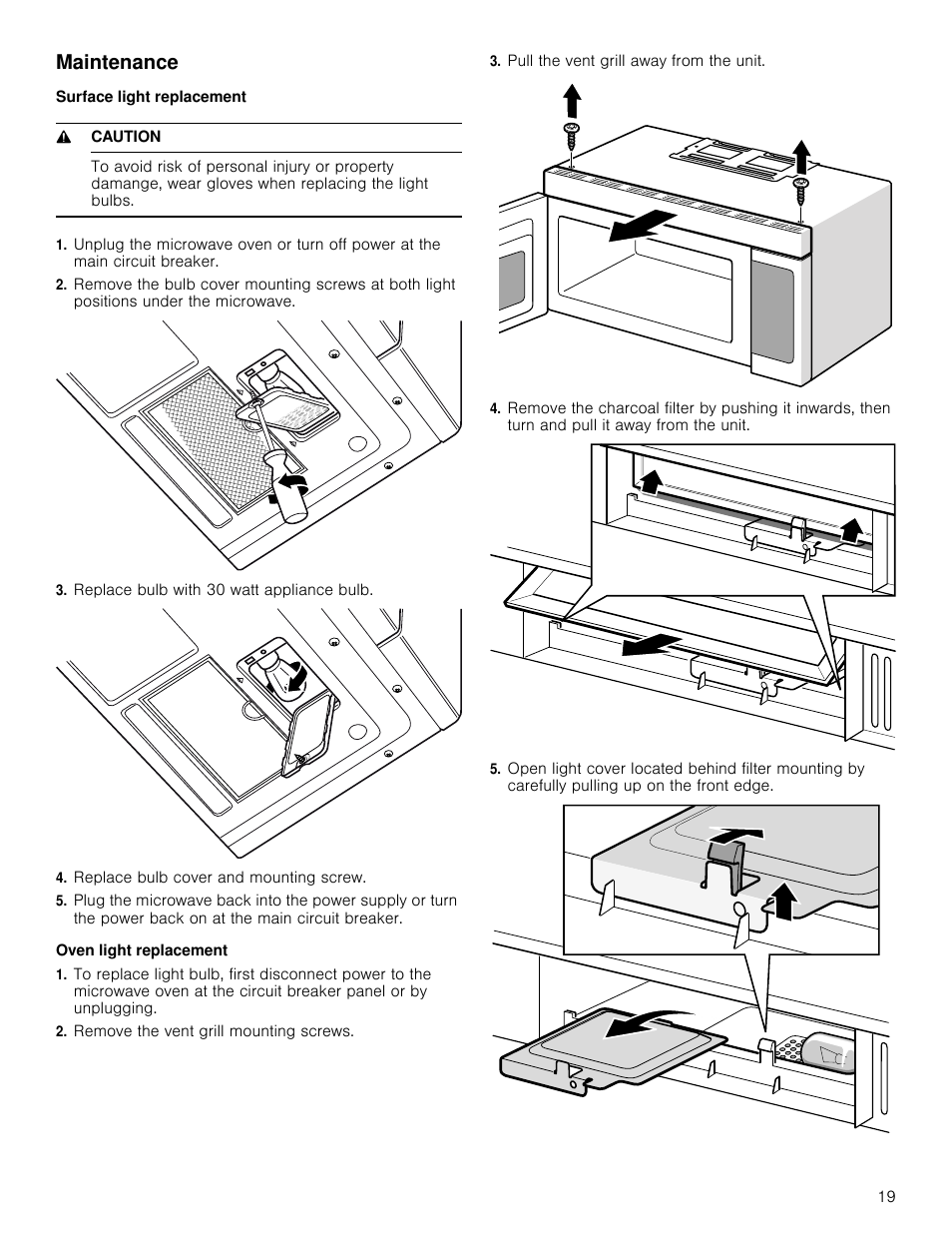 How To Remove Light Bulb Cover On Bosch Oven Lighting