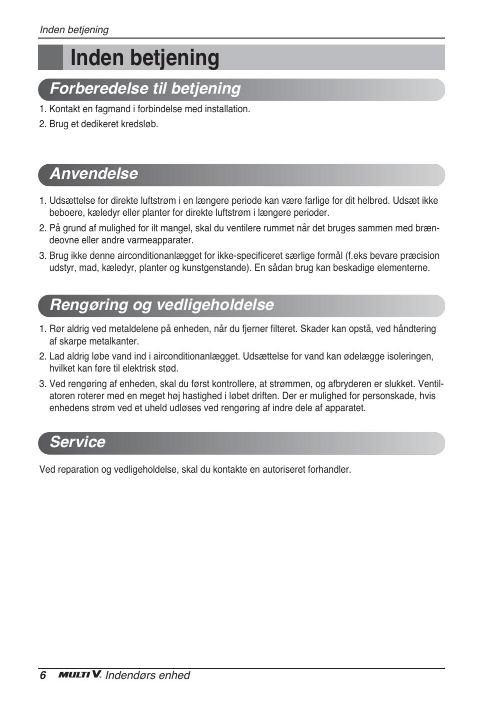 Inden betjening | LG ARNU48GTMC2 User Manual | Page 222 / 229