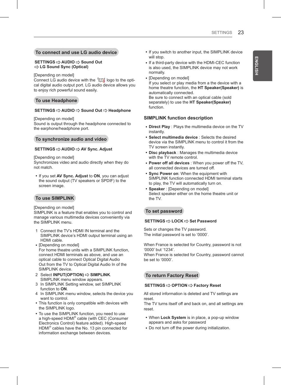 LG 55LB561V User Manual   Page 47 / 480   Also for: 55LB620V