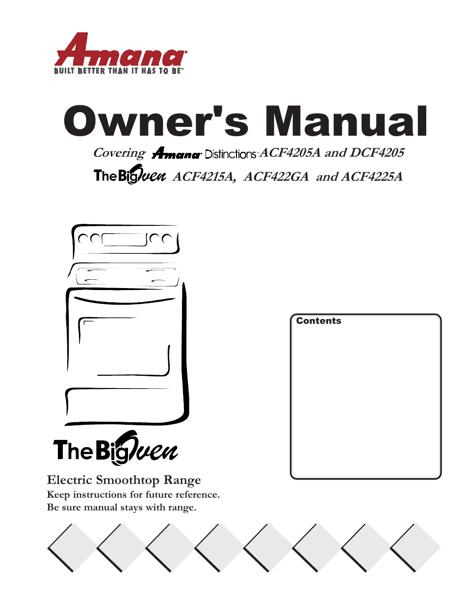 amana bigoven acf4205a user manual 32 pages also for bigoven rh manualsdir com Amana Appliance Logo Amana Appliance Dealers