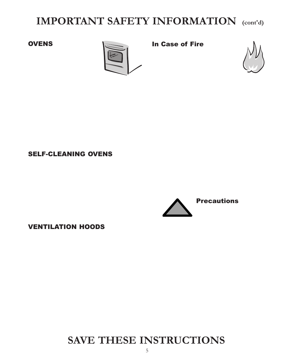 Important Safety Information Save These Instructions Ovens Amana Fuse Box Bigoven Acf4205a User Manual Page 5 32