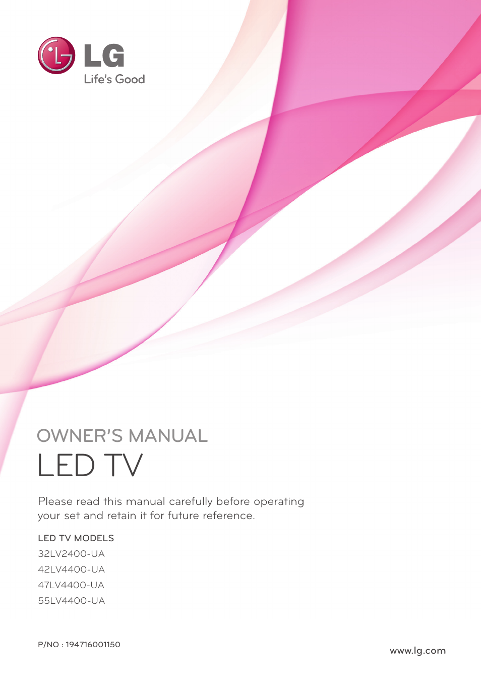 lg 32lv2400 user manual 64 pages also for 55lv4400 47lv4400 rh manualsdir com LG Touch Phone Operating Manual LG Touch Phone Operating Manual