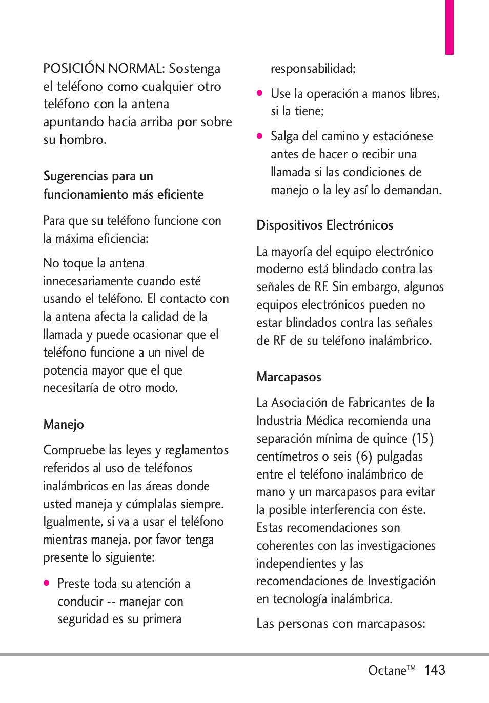 Sugerencias para un funcion, Manejo, Dispositivos electrónicos | LG