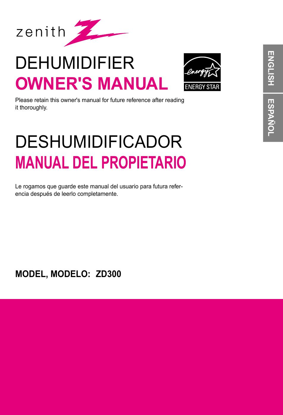 lg zd300 user manual 32 pages rh manualsdir com zenith humidifier manual zenith humidifier manual
