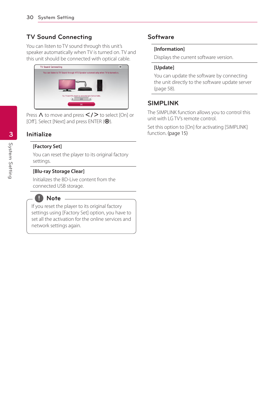 LG BH5140S User Manual | Page 30 / 72