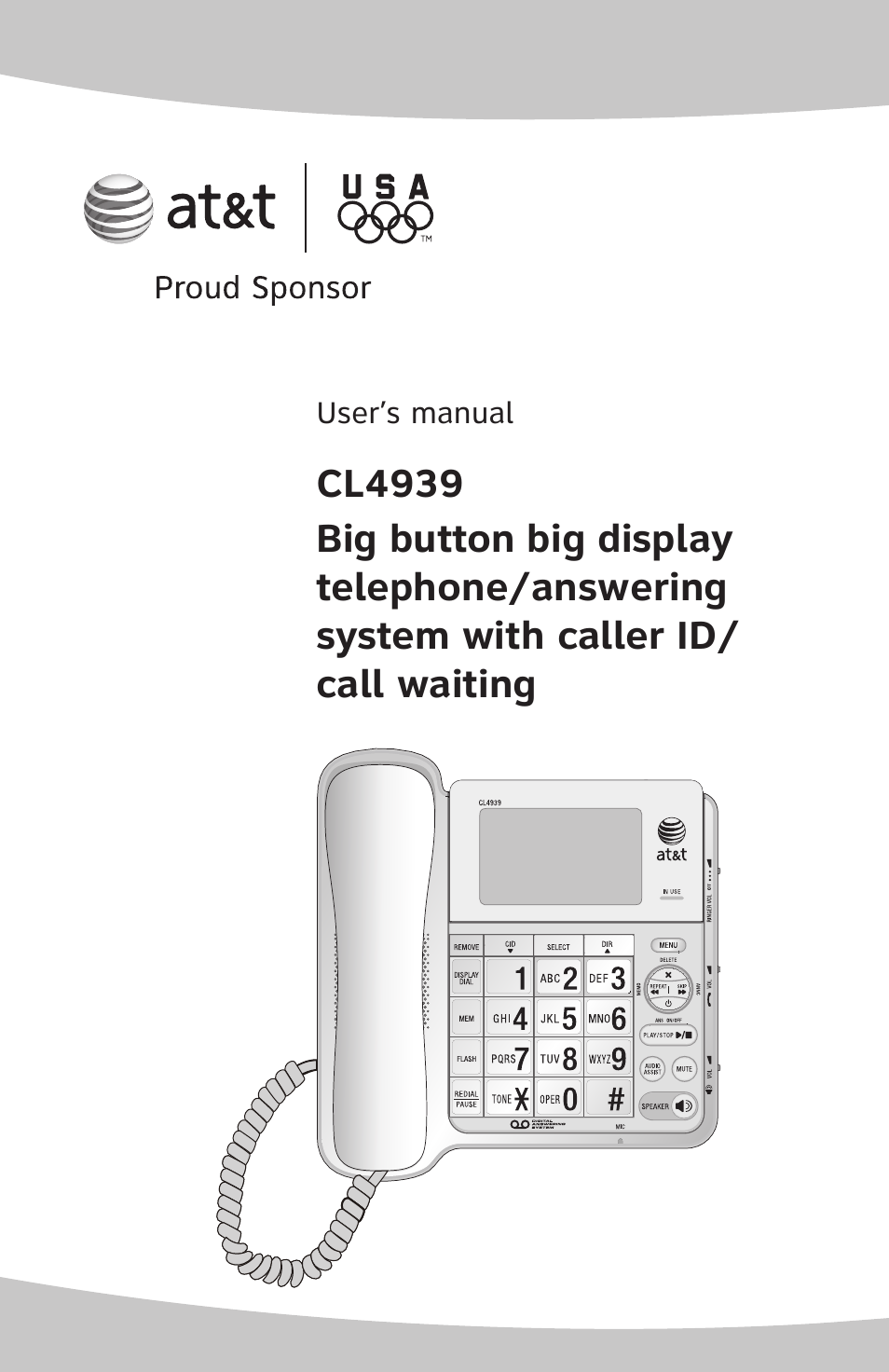 At&t phone model cl 4939 manualidades