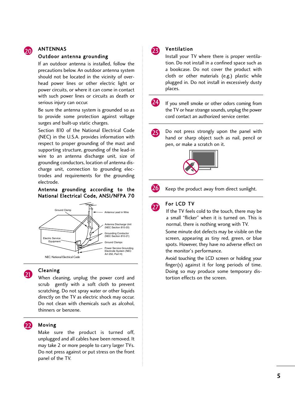 lg 47lh90 ub user manual page 5 134 original mode also for rh manualsdir com LG Cell Phone Operating Manual LG Flip Phone Manual