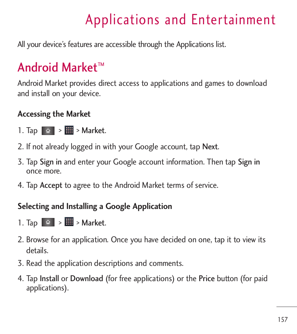 android market download free applications