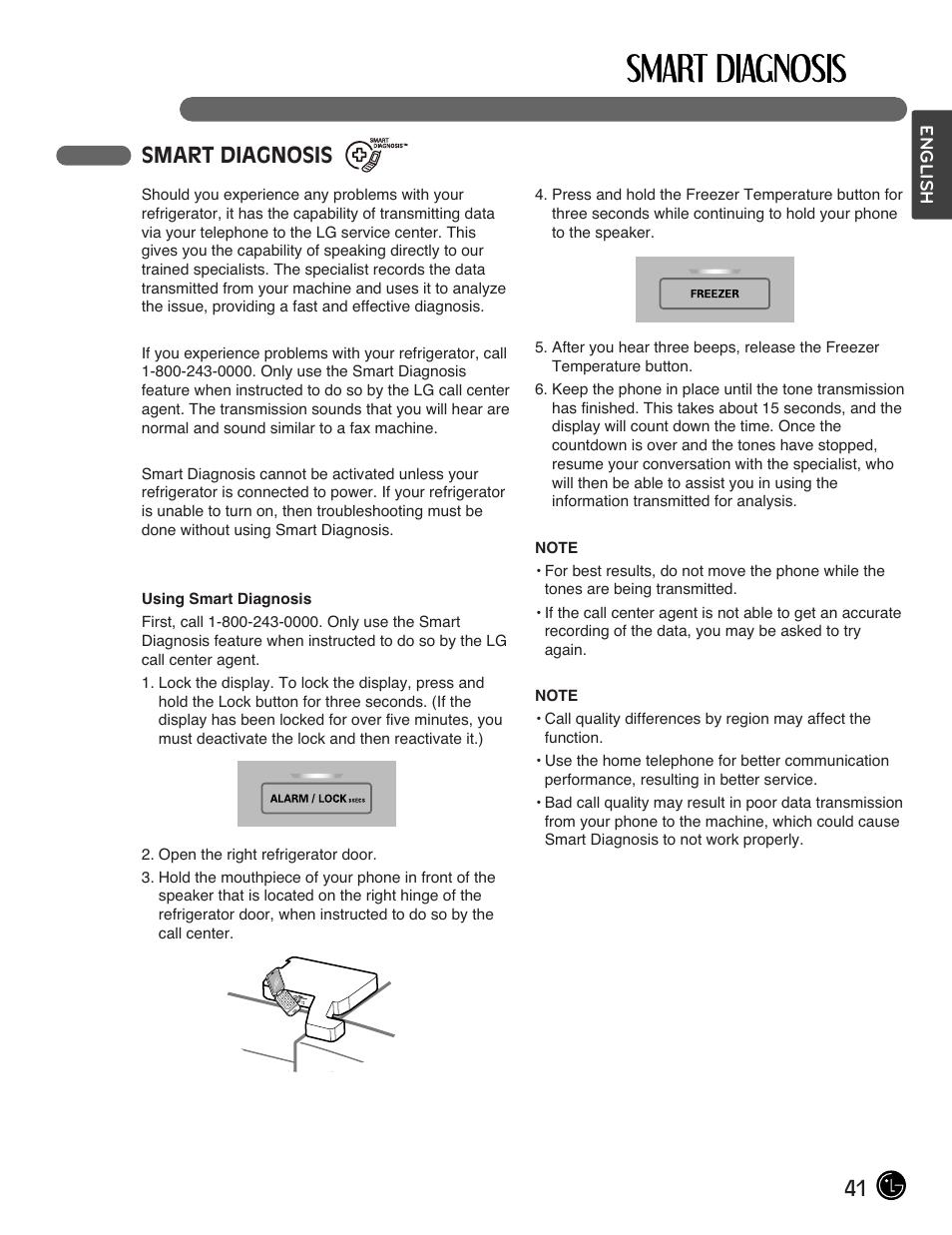 41 smart diagnosis | LG LFX28978ST User Manual | Page 41 / 53