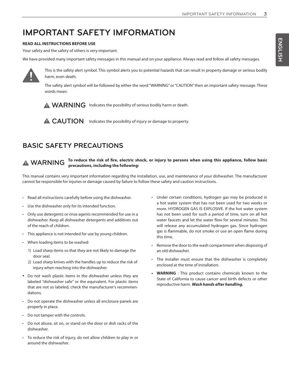 important safety imformation warning caution lg ldf7551st user rh manualsdir com LG Split System Installation Manual LG Sound System Owners Manual