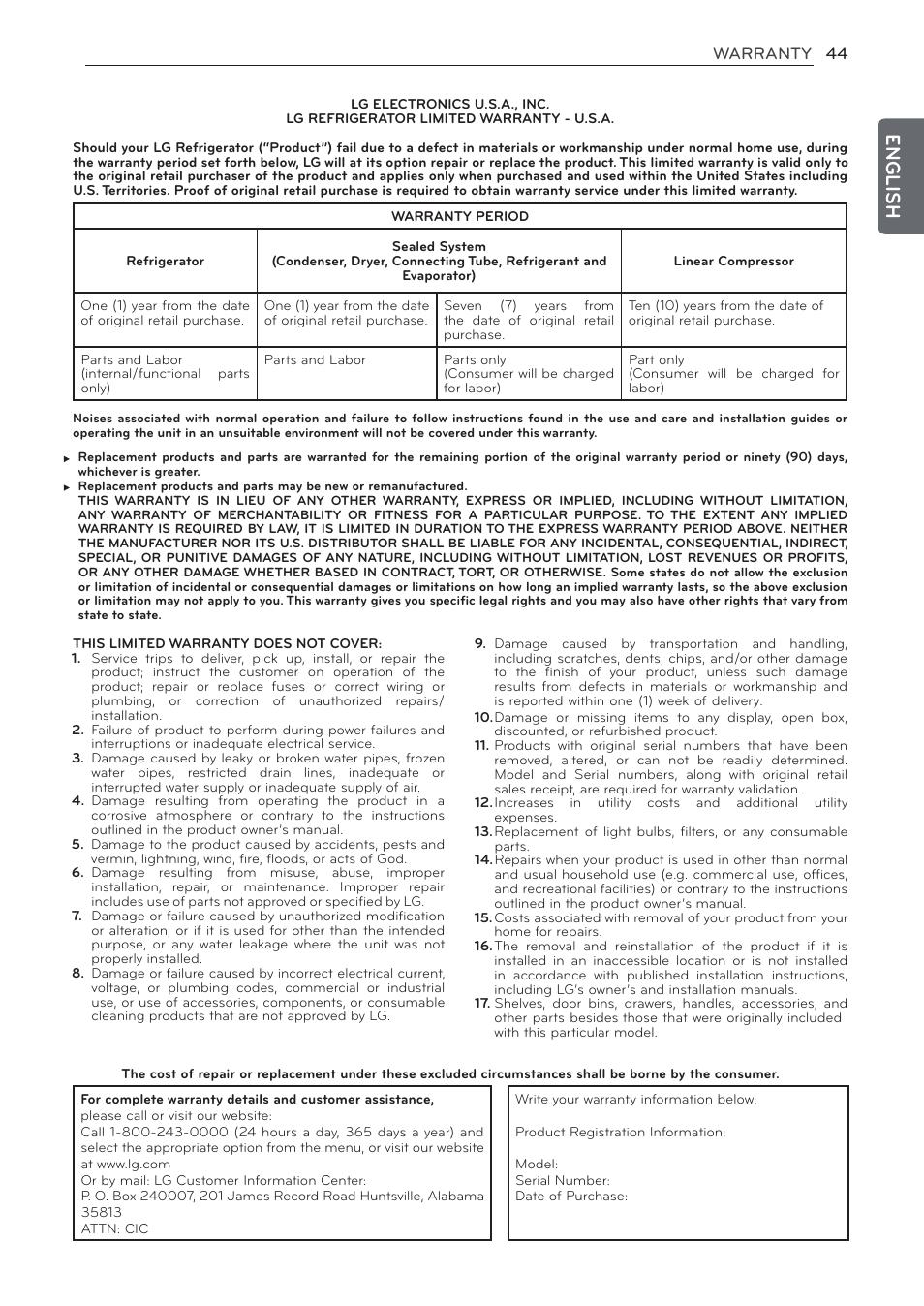 English   LG LFC24770ST User Manual   Page 44 / 46