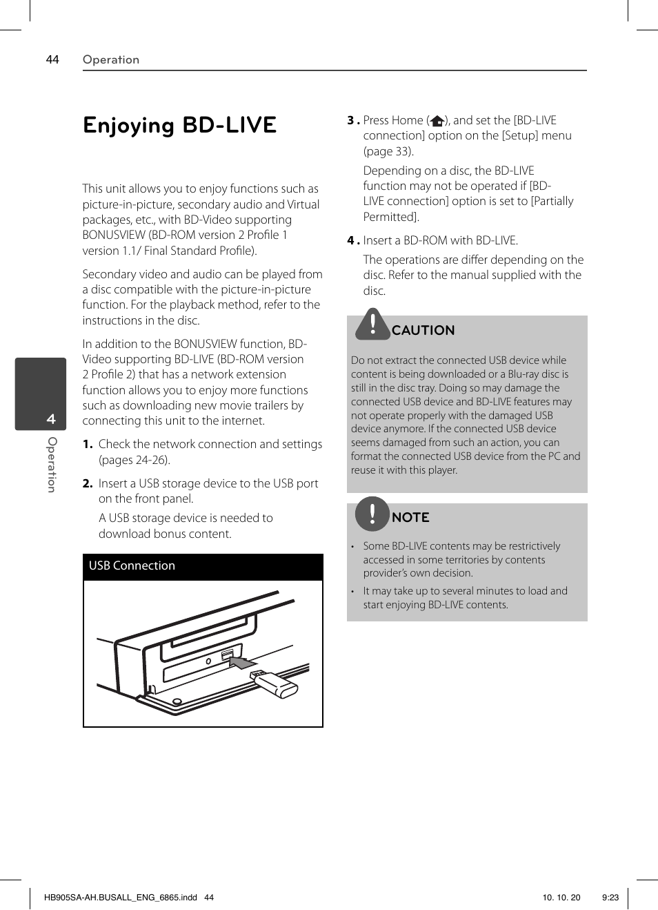 enjoying bd live lg lhb335 user manual page 44 104 original mode rh manualsdir com