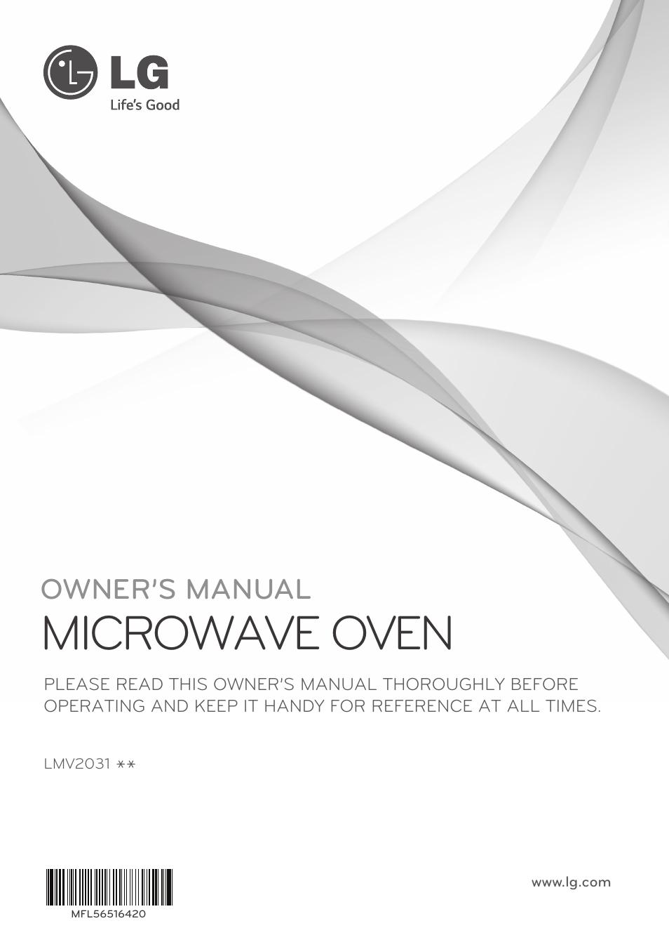 lg lmv2031sb user manual 32 pages also for lmv2031st lmv2031sw rh manualsdir com lg oven user manual lg microwave oven user manual