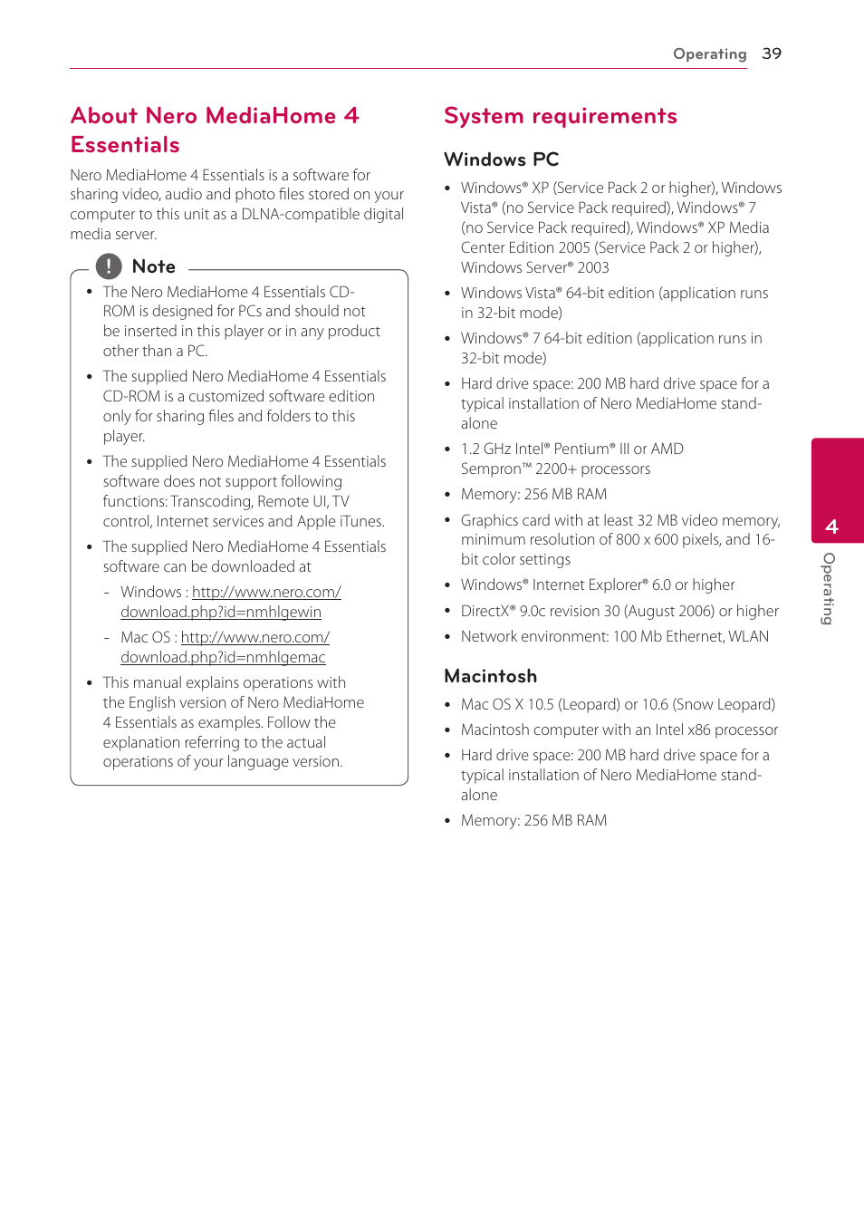 about nero mediahome 4 essentials system requirements lg bh6730s rh manualsdir com Nero 6 Windows 7 Nero 6 Windows 7