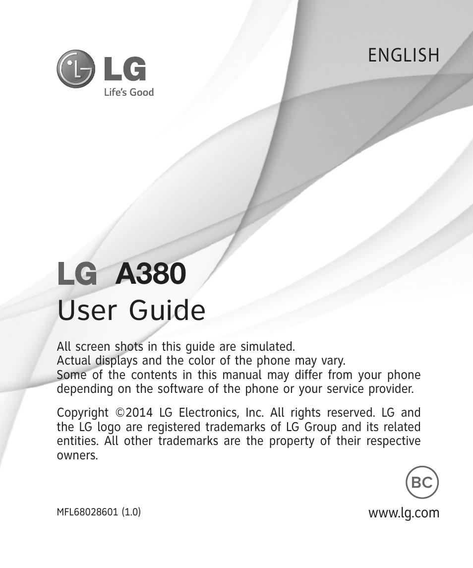 lg a380 user manual 114 pages also for lga380 Old Verizon LG Phones Verizon Wireless LG Flip Phones