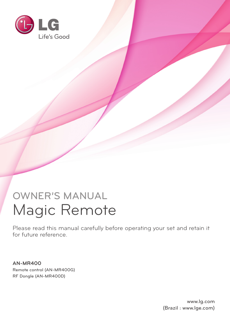 Lg an mr400 user manual 5 pages sciox Image collections