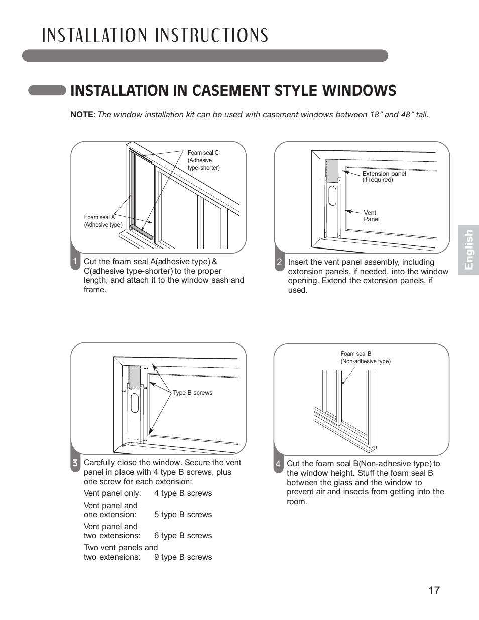 installation in casement style windows 17 english lg lp0711wnr rh manualsdir com User Manual Cartoon Manual