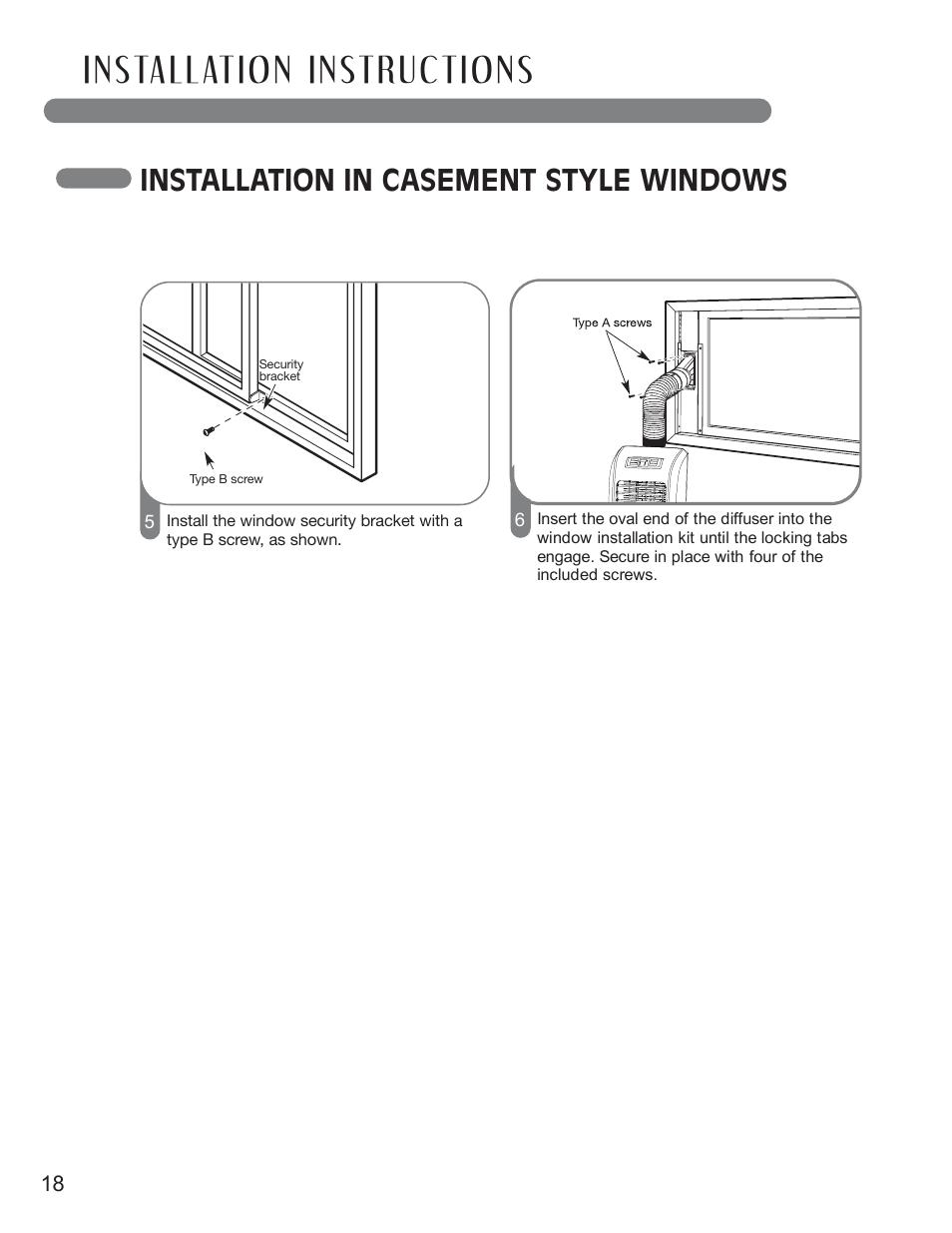 installation in casement style windows lg lp0711wnr user manual rh manualsdir com User Manual PDF Service Manuals