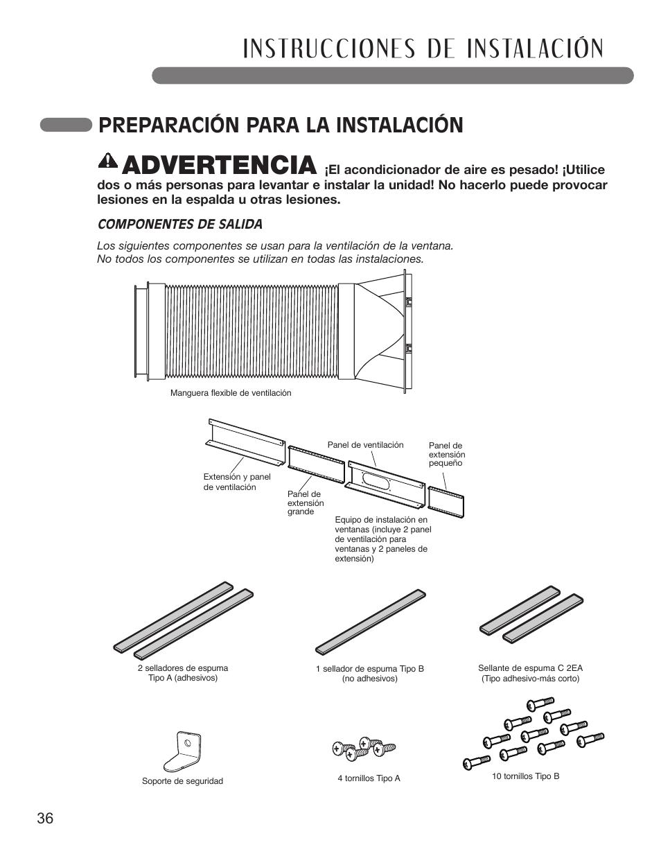 advertencia preparaci n para la instalaci n 36 espa ol lg rh manualsdir com Cartoon Manual Corvette Owners Manual