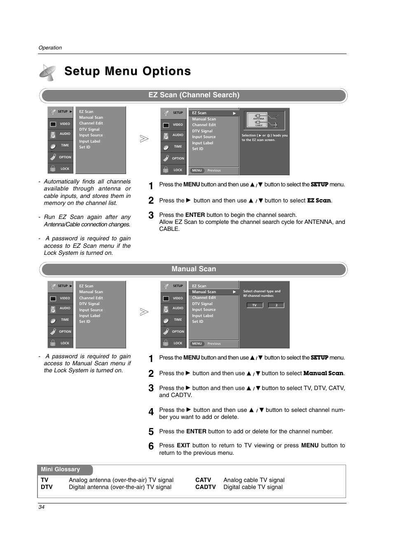 setup menu options ez scan channel search manual scan lg rh manualsdir com LG TV Parts lg 42lc2d manual pdf