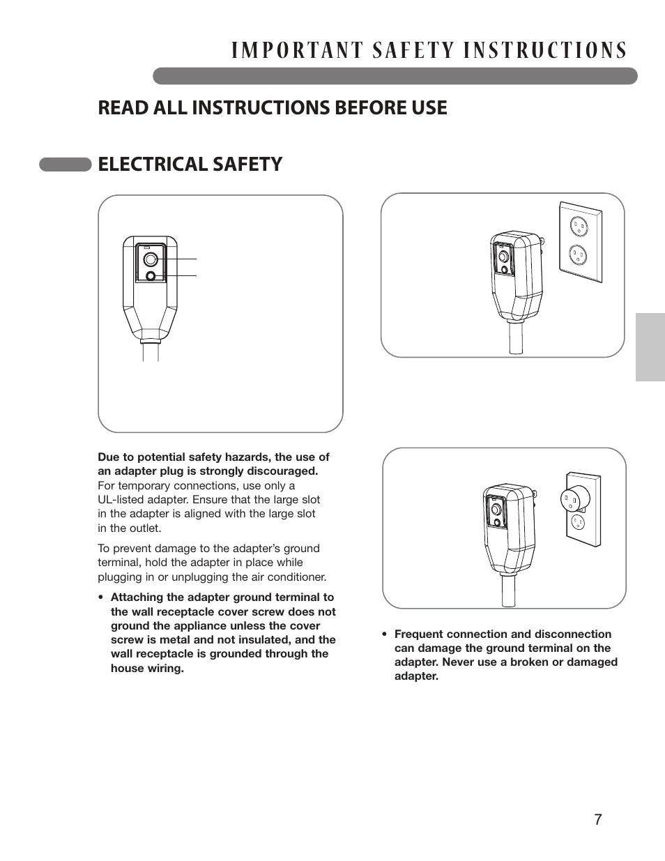 Save These Instructions Read All Before Use Uses Of Integrated Circuit Electrical Safety Lg Lp1213gxr User Manual Page 7 28