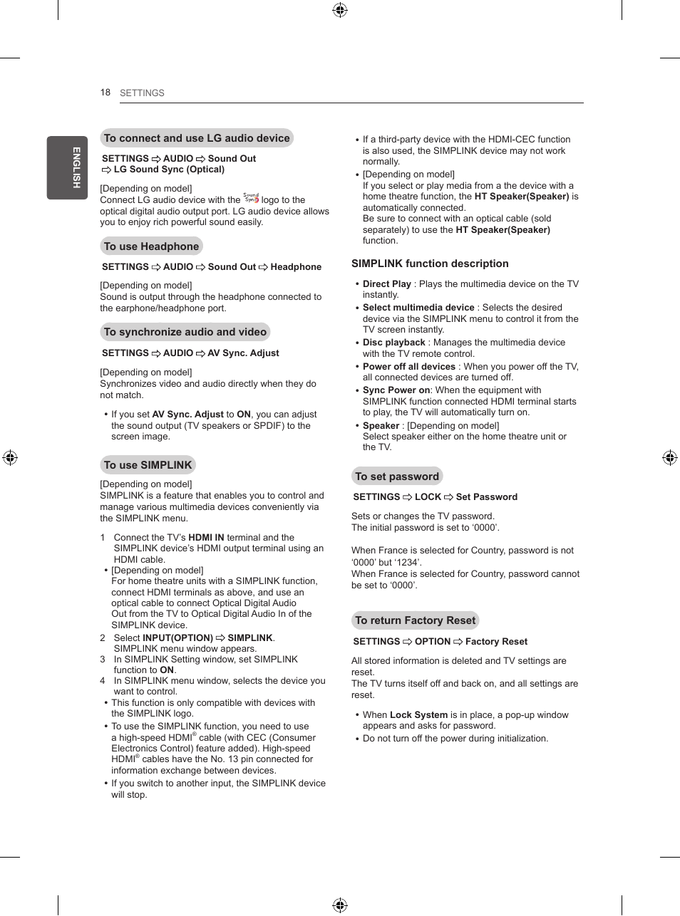 LG 50PB560U User Manual | Page 37 / 227 | Also for: 60PB560V
