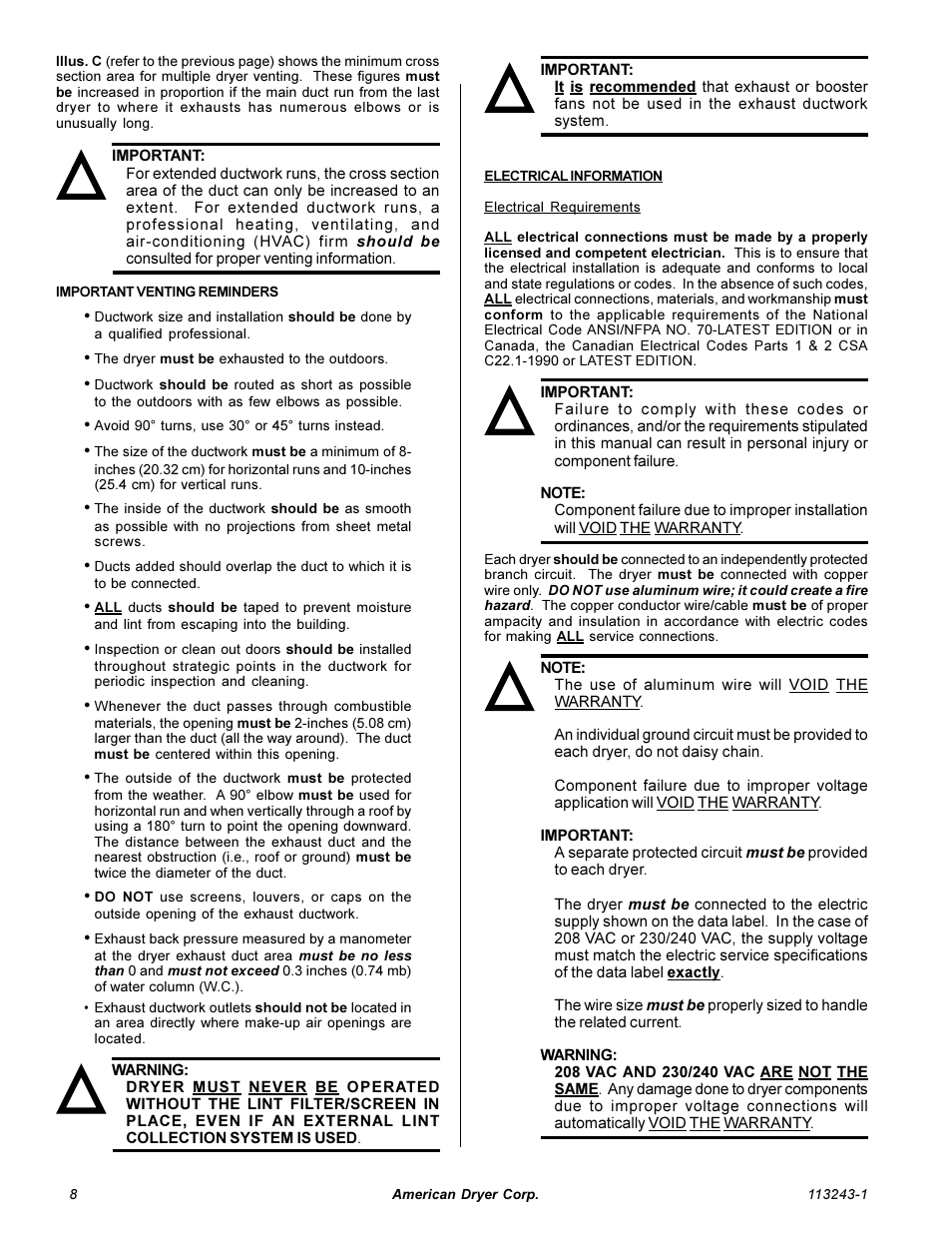 American Dryer Corp. AD-15 Phase 7 User Manual | Page 10 / 31 ...