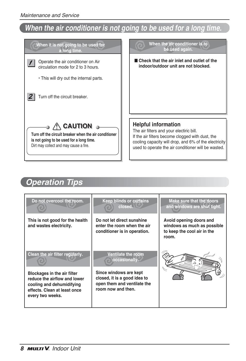 Caution | LG ARNU12GL2G2 User Manual | Page 8 / 91