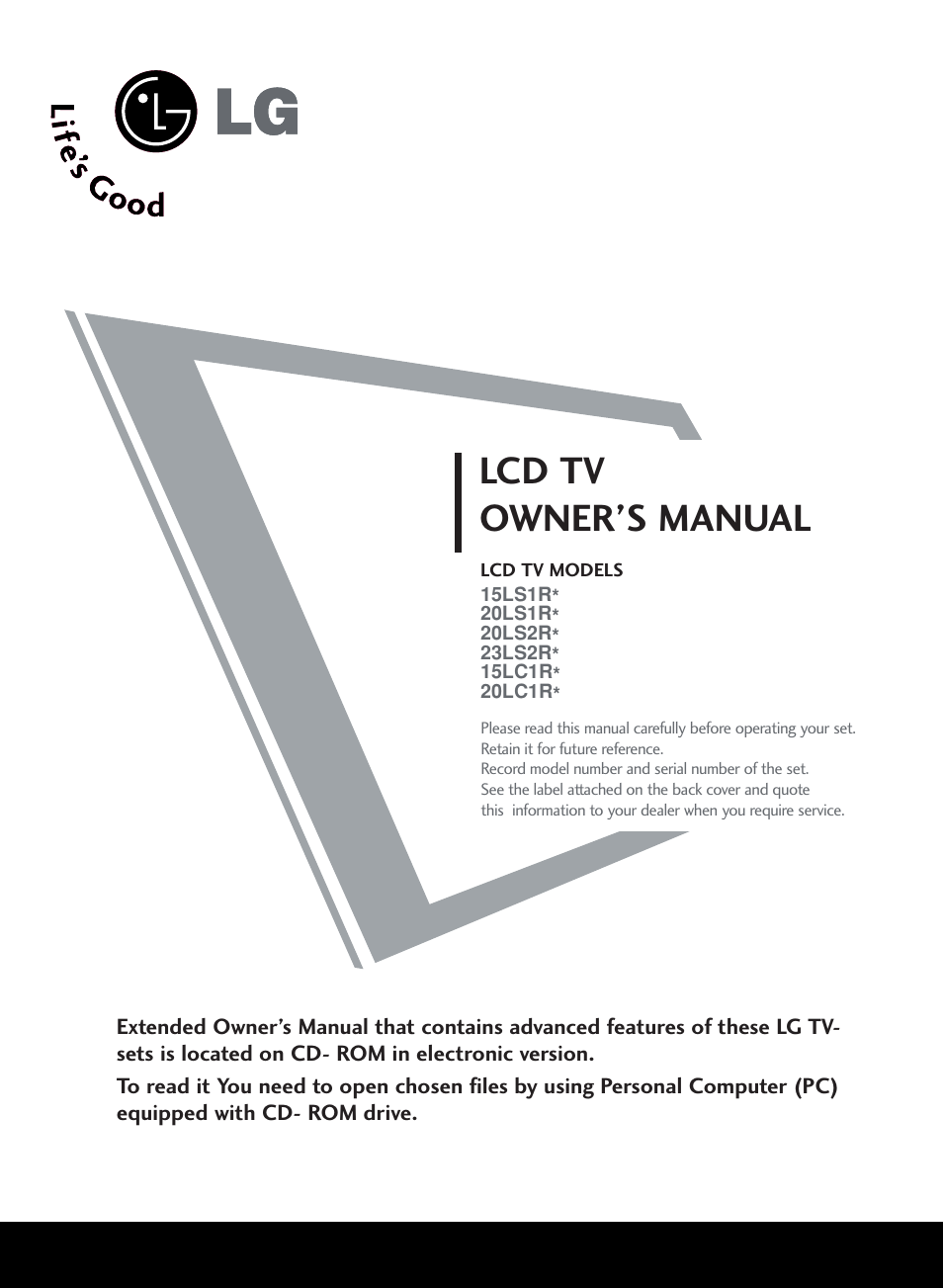 lcd tv owner s manual lg 20ls1r user manual page 13 236 rh manualsdir com lg lcd tv service manual free download lg lcd service manual