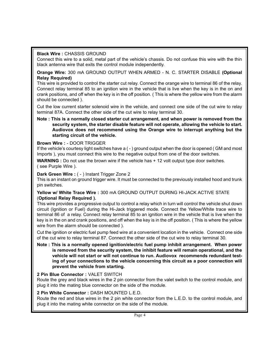 Audiovox User Manual Prestige Wiring Diagram Aps 25hj Page 4 12 Original Mode Rh Manualsdir Com Aps25e Walkie Talkie