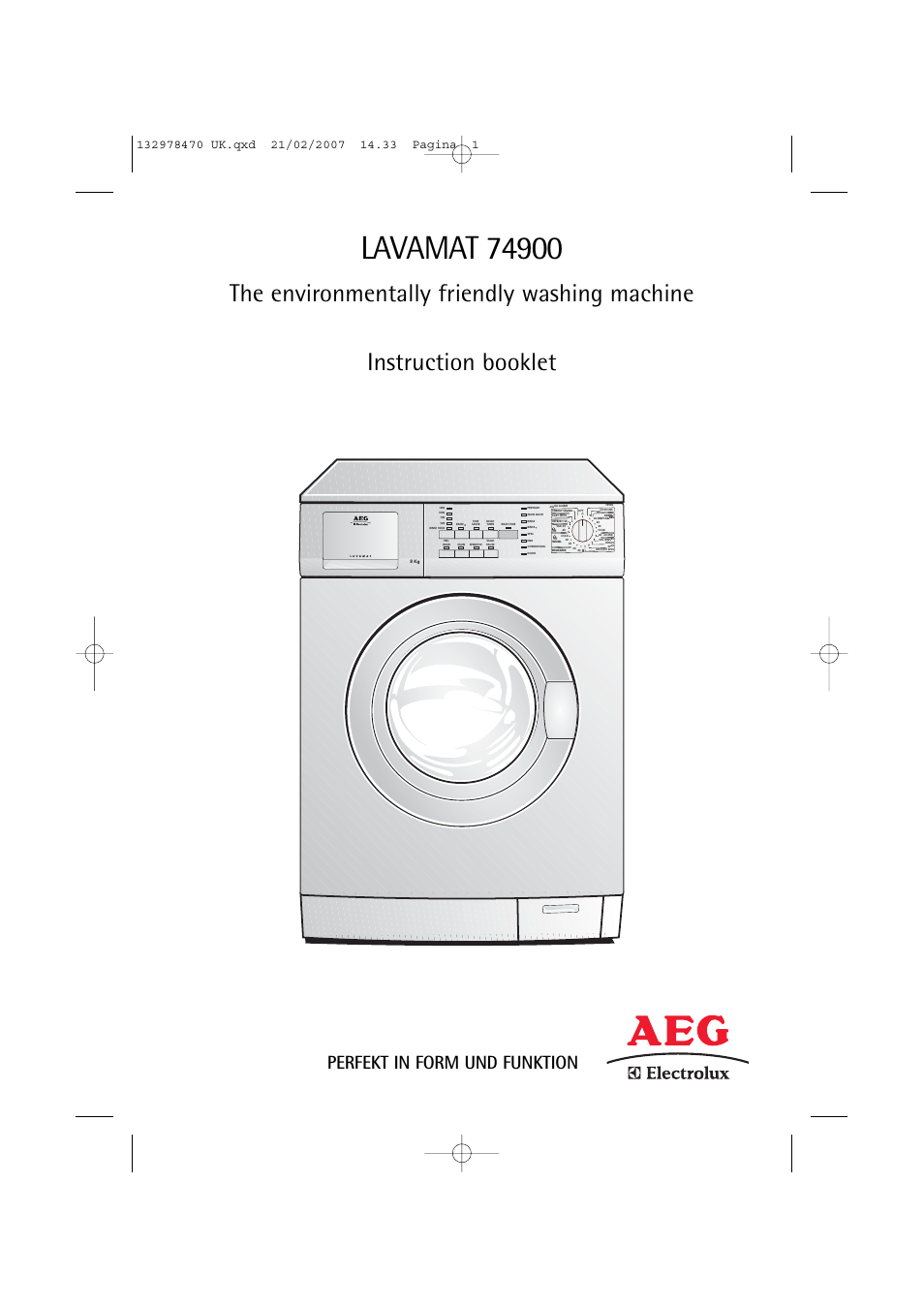 aeg lavamat washing machine manual