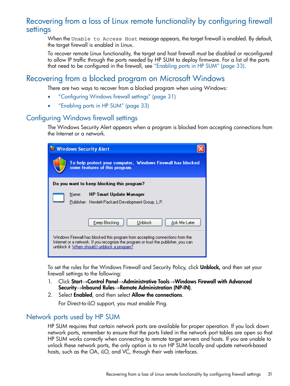configure ilo from windows