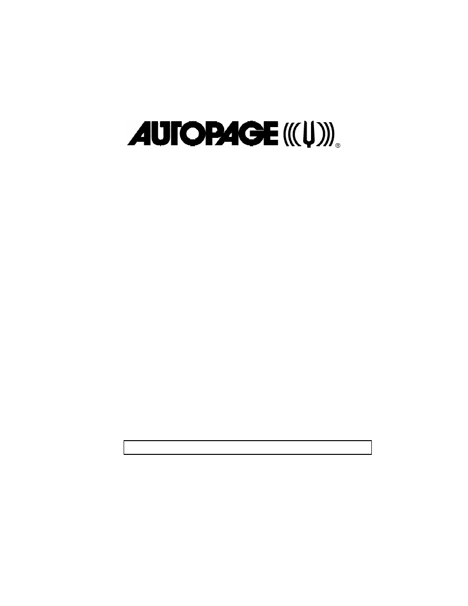 Autopage Rs 750 User Manual 15 Pages