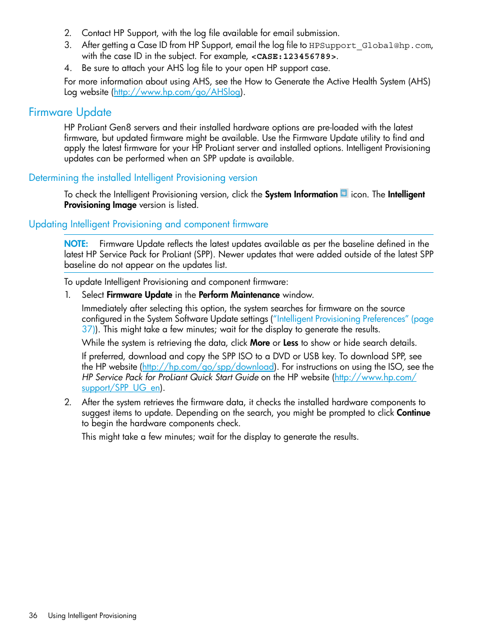Firmware update | HP ProLiant DL320e Gen8 Server User Manual