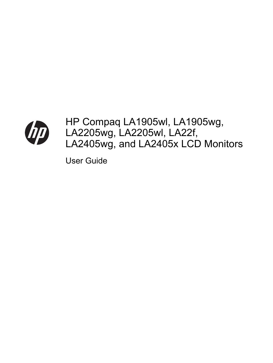 HP Compaq LA2405x 24-inch LED Backlit LCD Monitor User Manual | 28 pages |  Also for: Compaq LA22f 22-inch LED Backlit LCD Monitor, Compaq LA2405wg 24-inch  Widescreen LCD Monitor, Compaq LA1905wg 19-inch