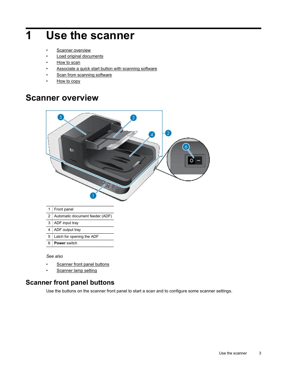 use the scanner scanner overview scanner front panel buttons hp rh manualsdir com HP Scanjet N9120 Enterprise Flow hp scanjet n9120 service manual
