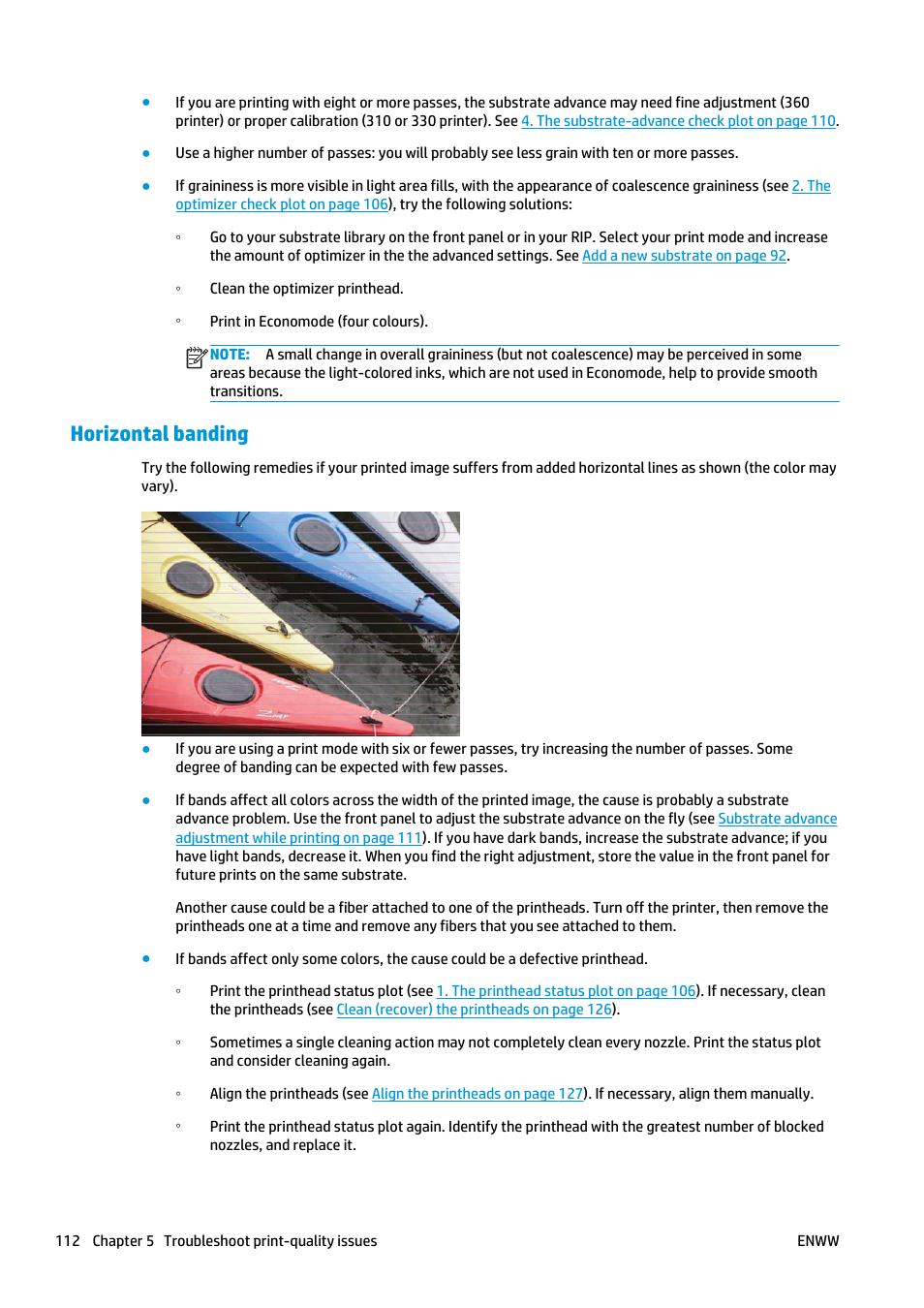 Horizontal banding | HP Latex 360 Printer User Manual | Page